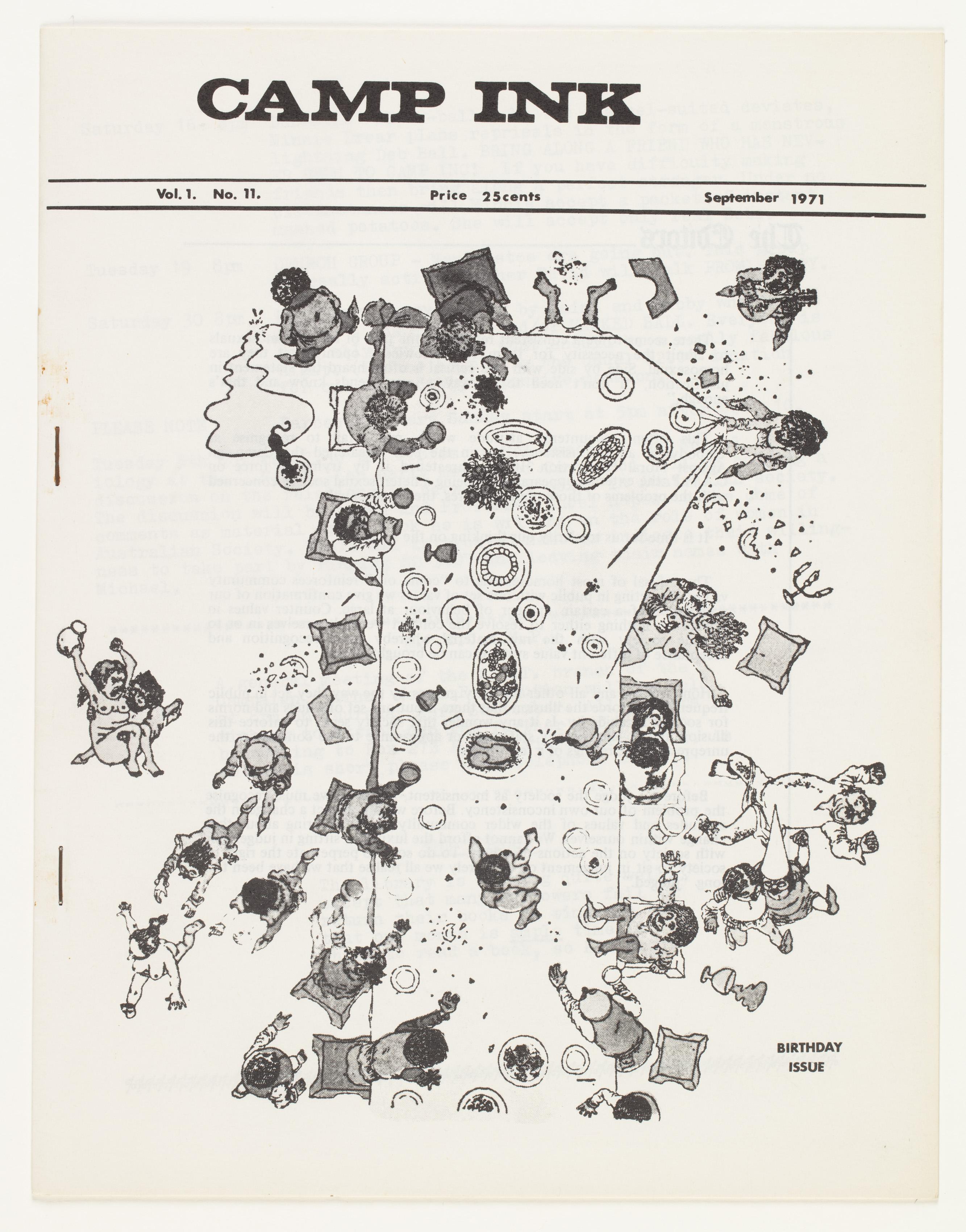 Camp Ink. Vol. 1, No.11 (September 1971)