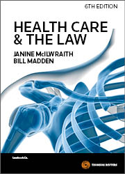 Cover for Health care and the law. 6th ed