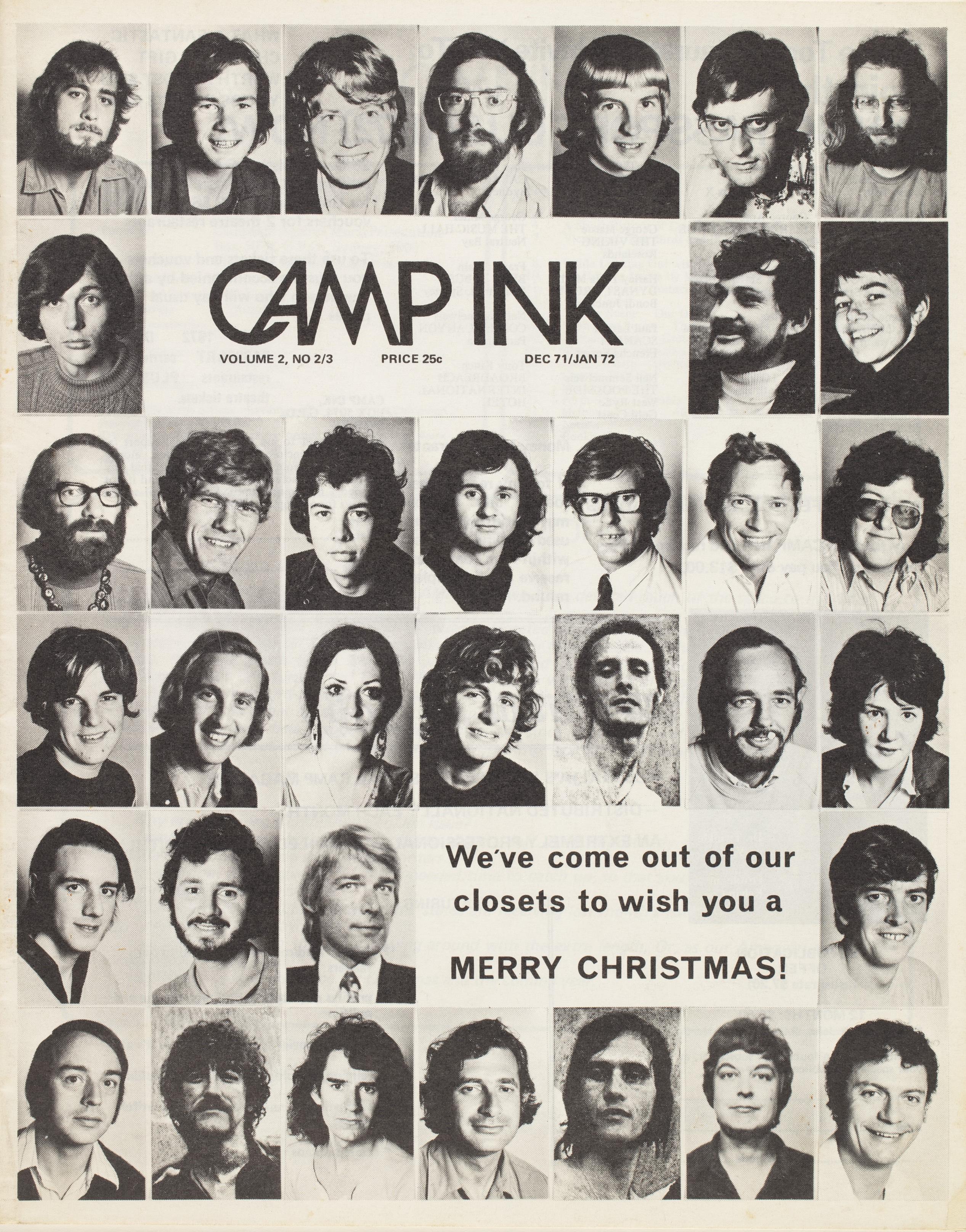 CAMP Ink cover, December 1971