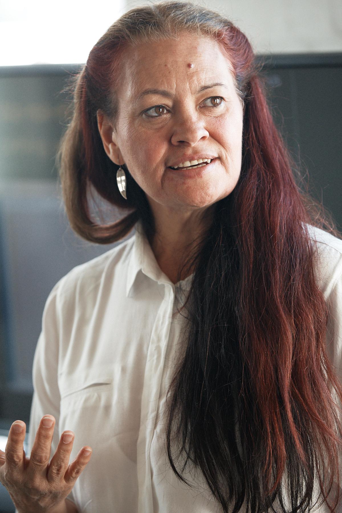 Photo of woman talking