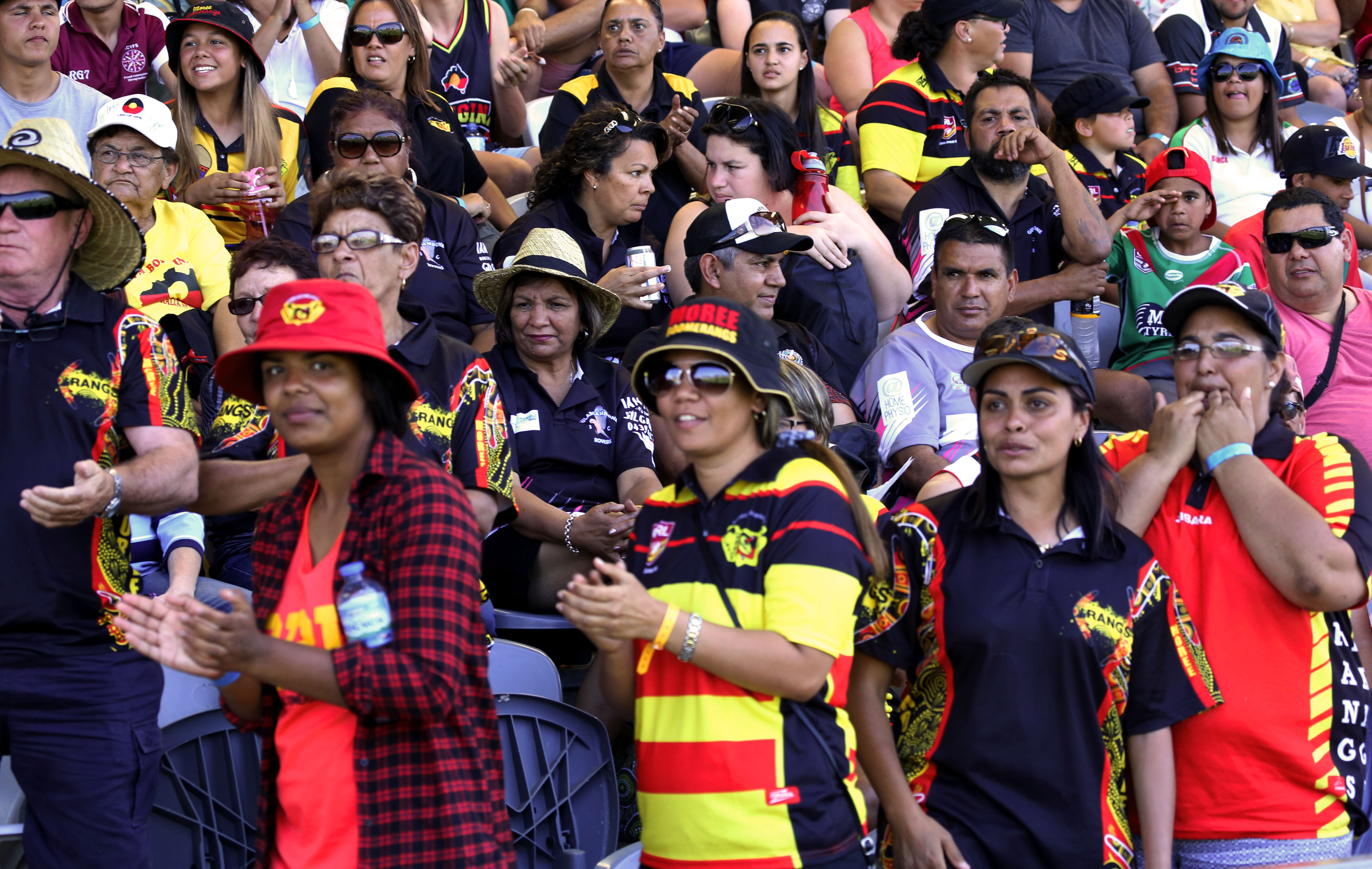 Barbara McGrady, Koori Knockout supporters from Moree, Dubbo, 2015