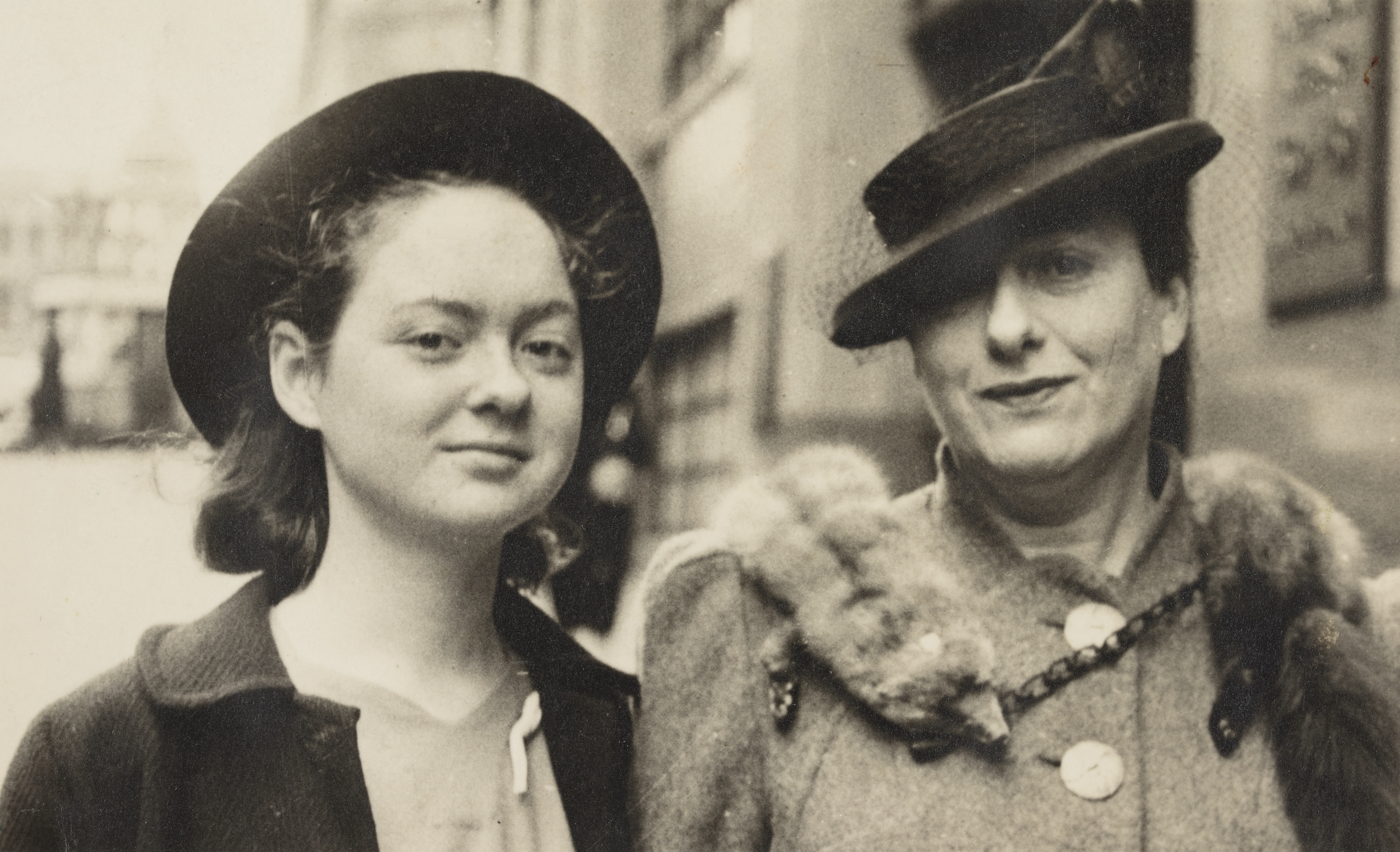A young Grace Perry (left), c 1942