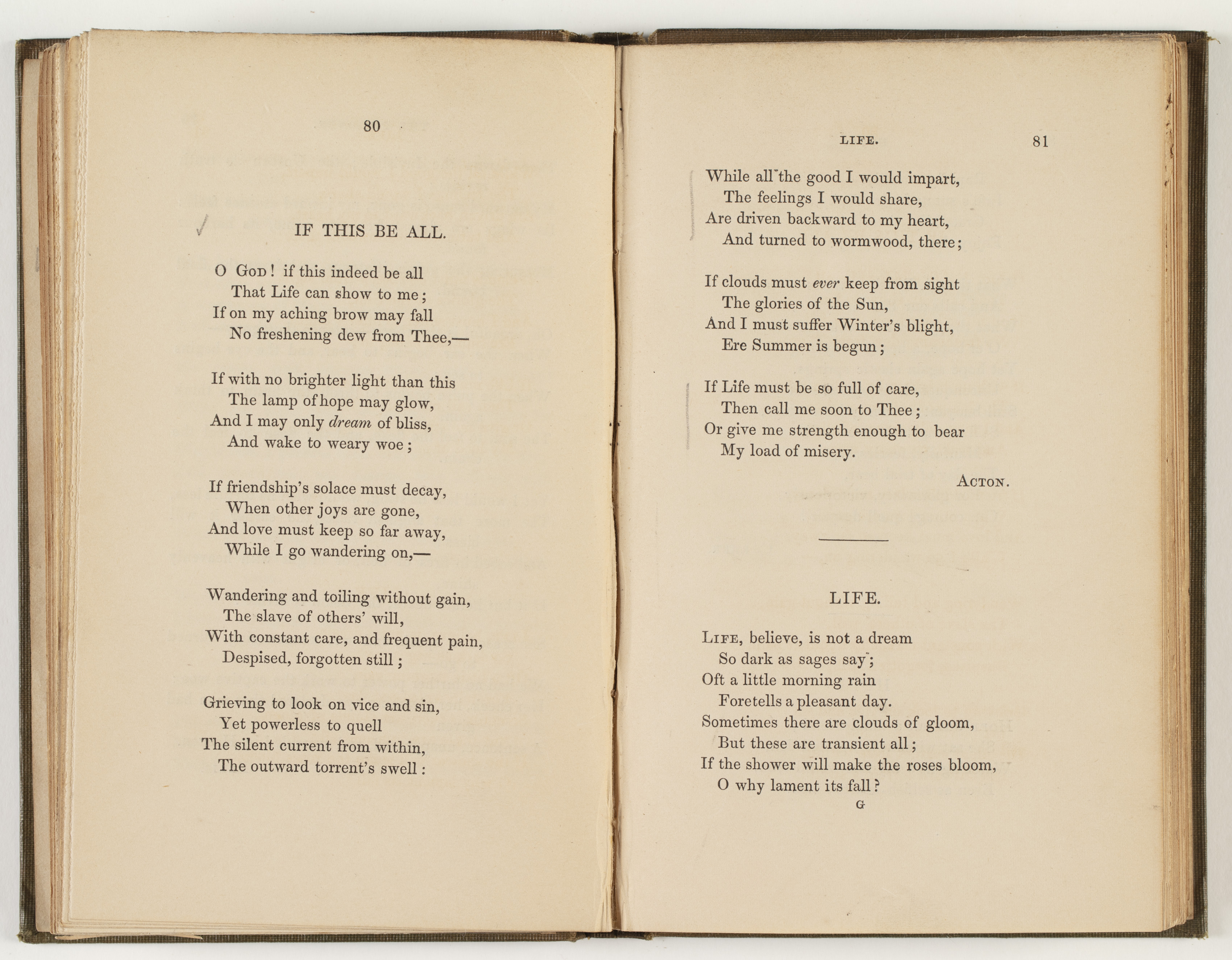 Poems / by Currer, Ellis, and Acton Bell