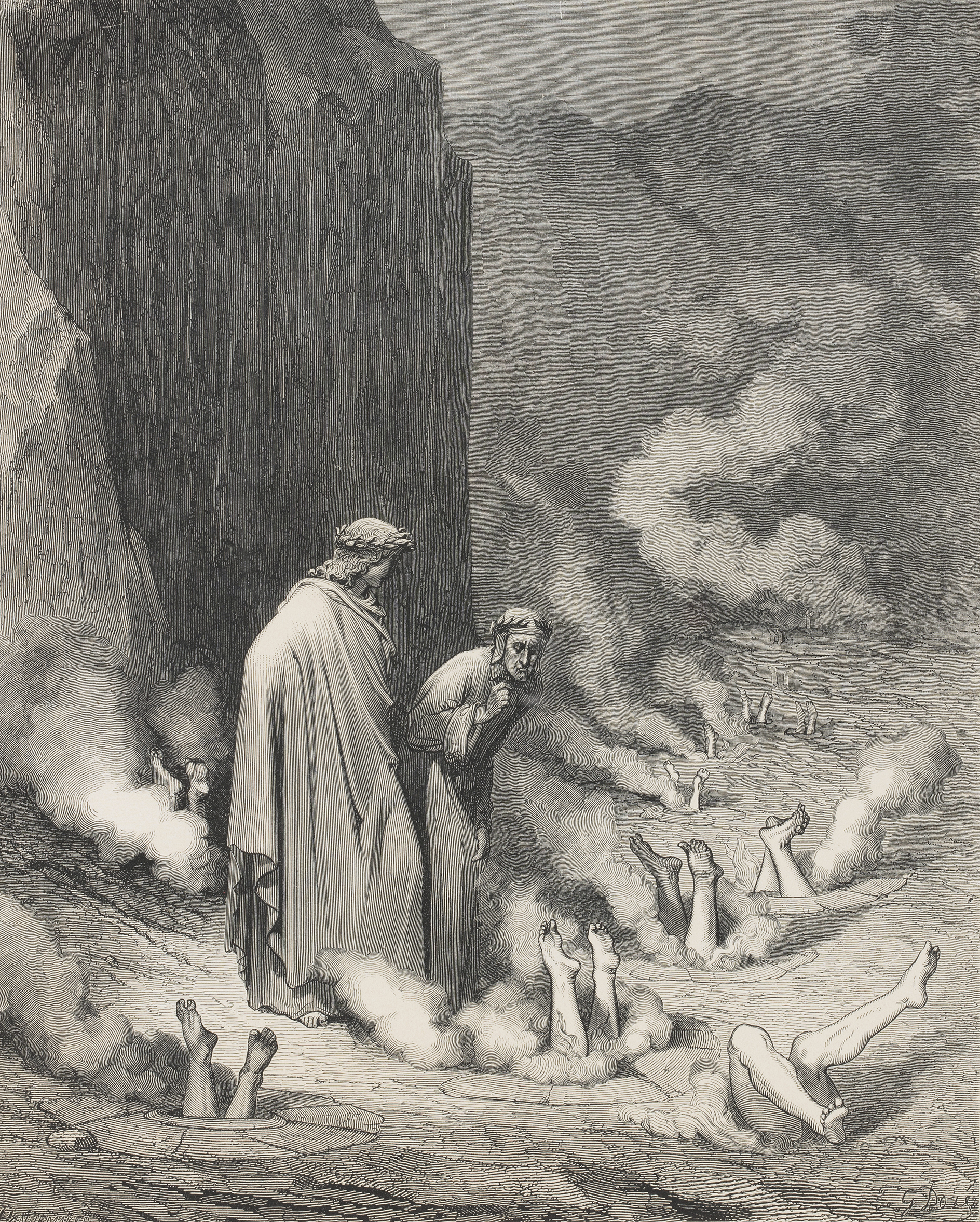 The Vision of Hell, 1868, by Dante Alighieri, illustrated by Gustave Doré