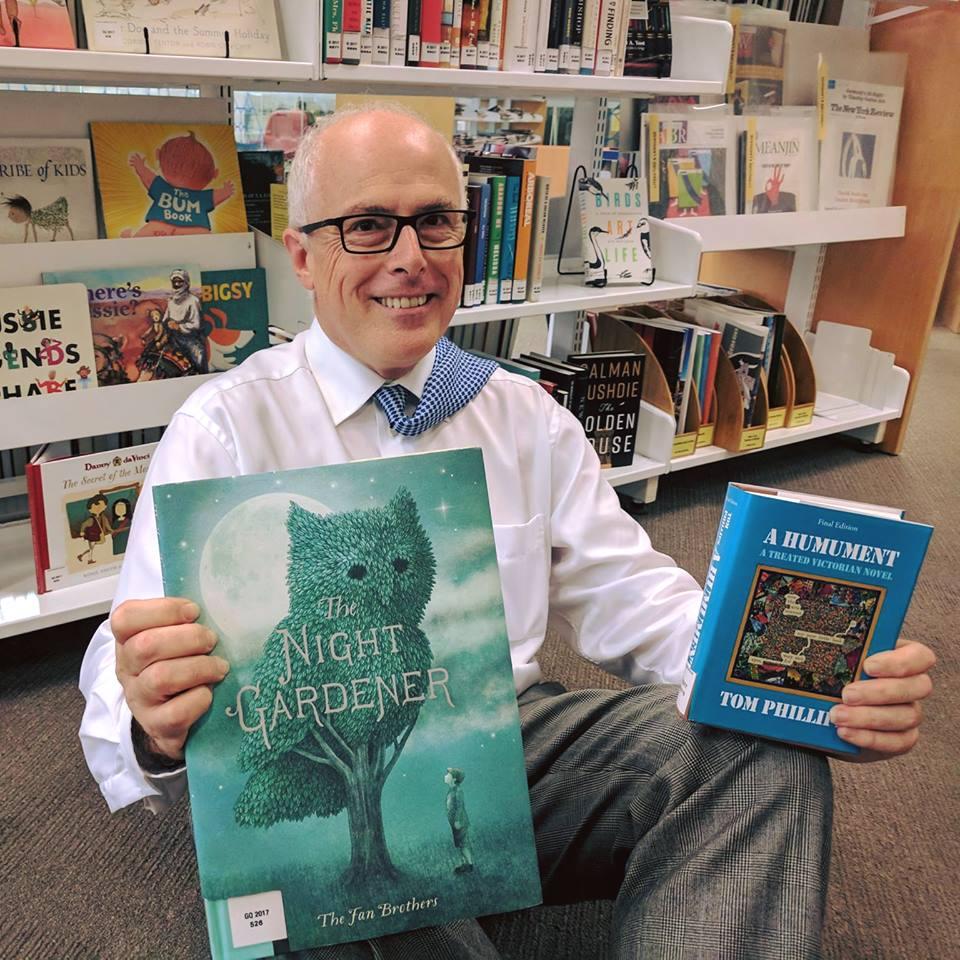 Dr John Vallance with children's books