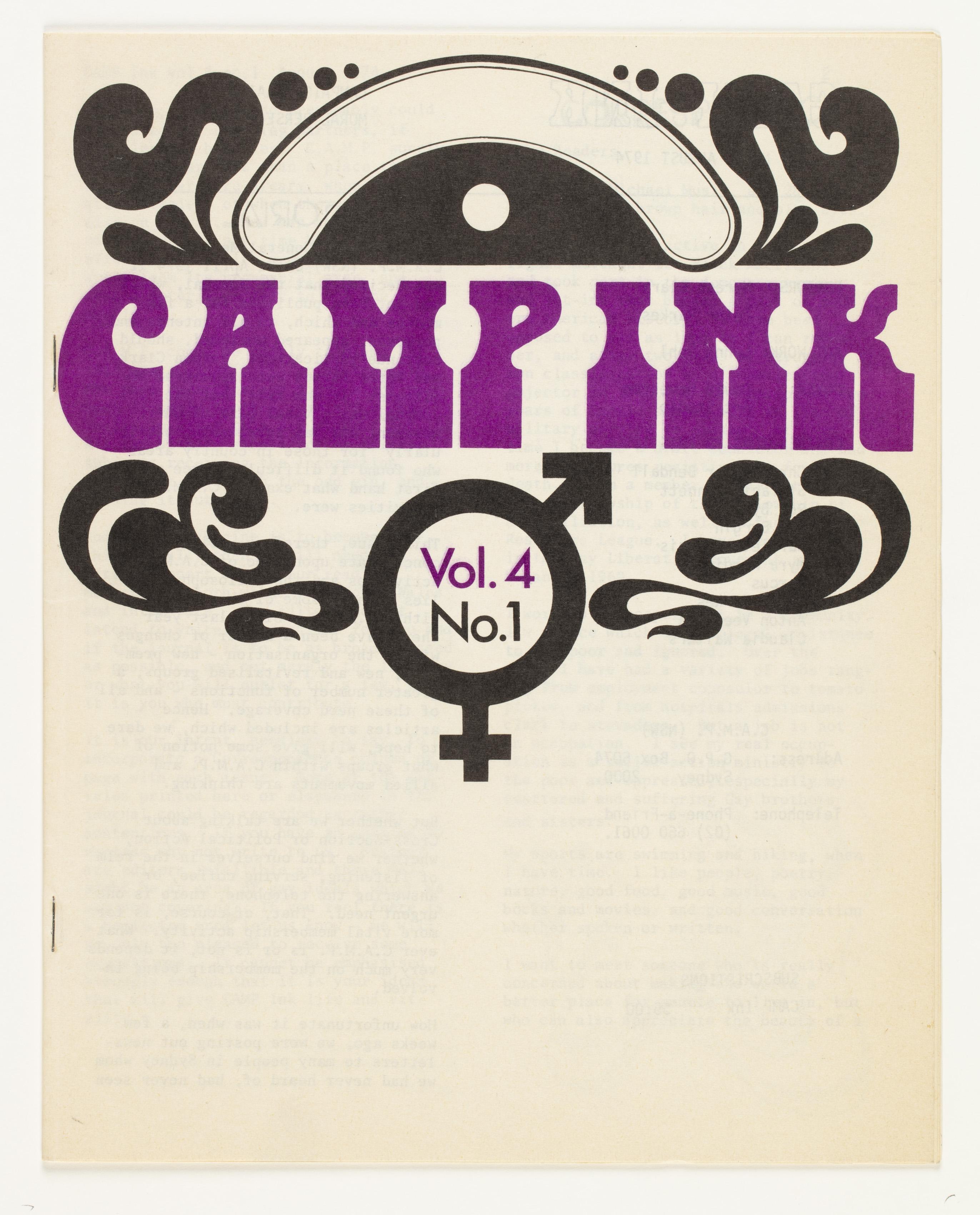 Camp Ink. Vol. 4, No.1 (August 1974)