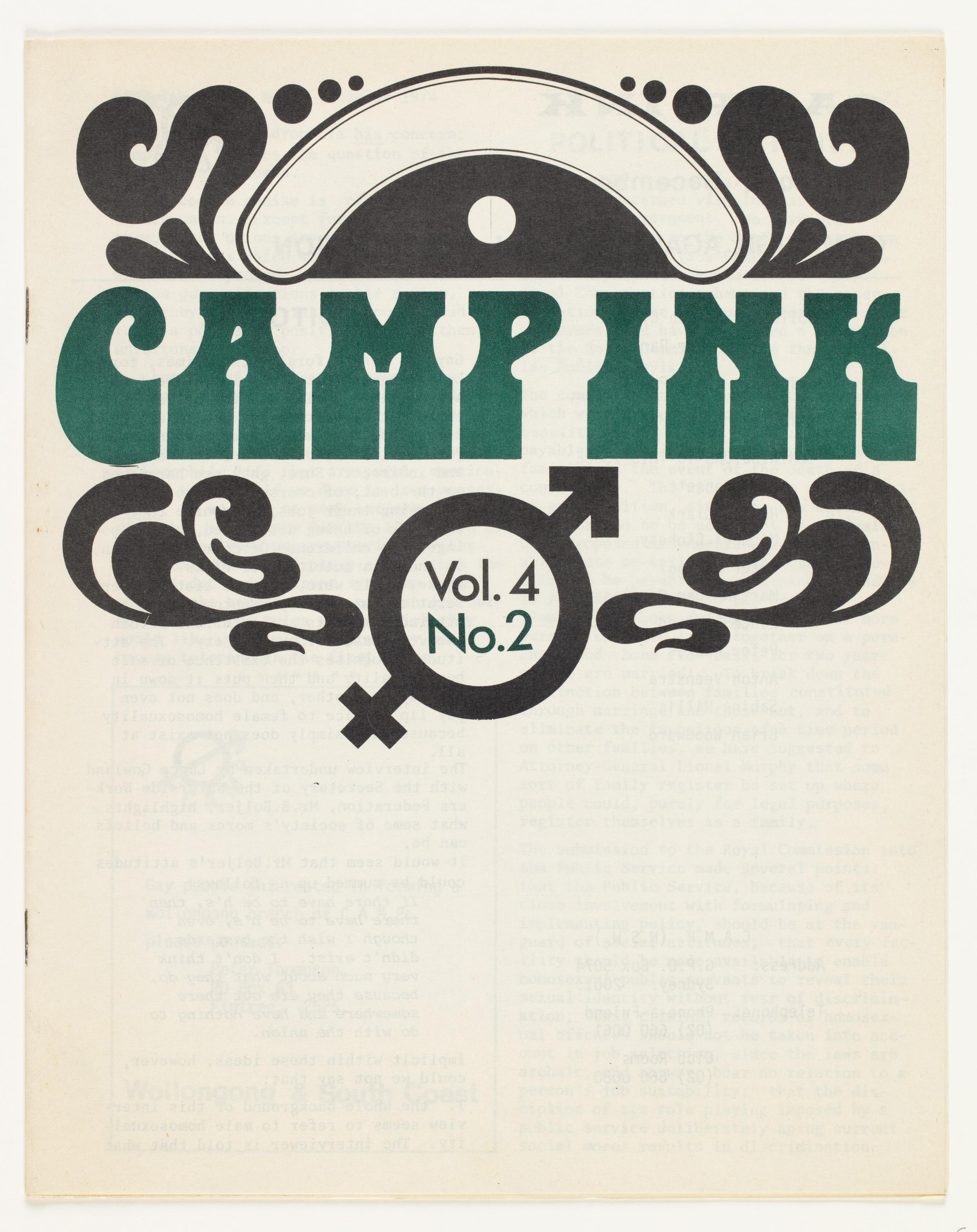 Camp Ink. Vol. 4, No.2 (December 1974)