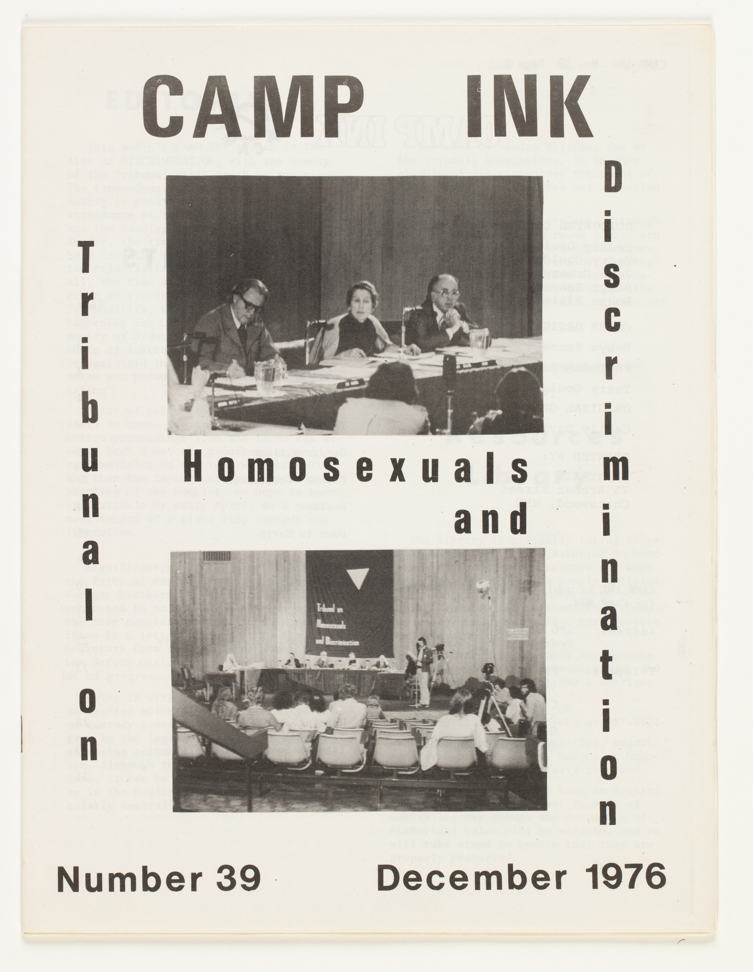 Camp Ink. Number 39 (December 1976)