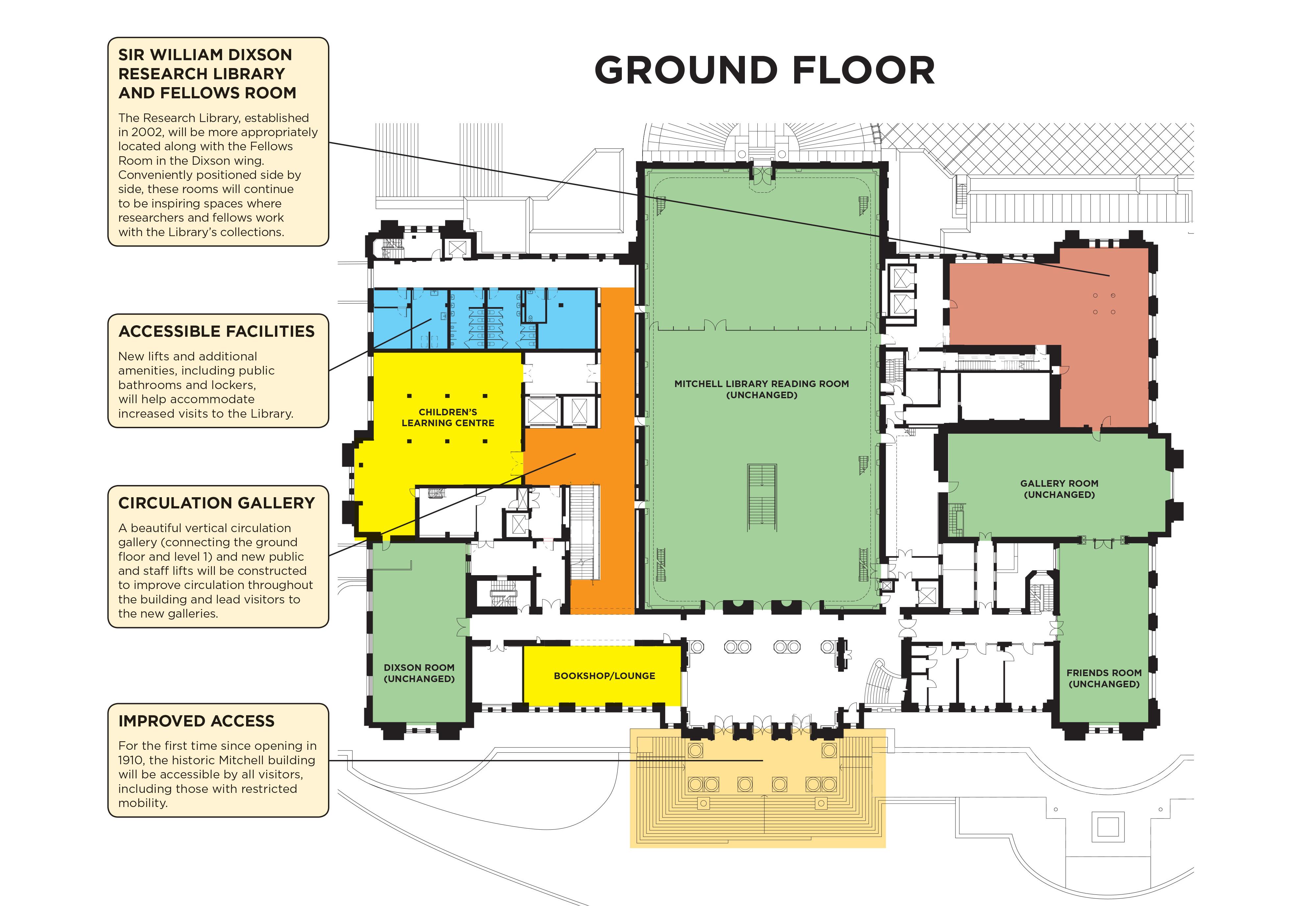Mitchell Building floor plan Ground Floor