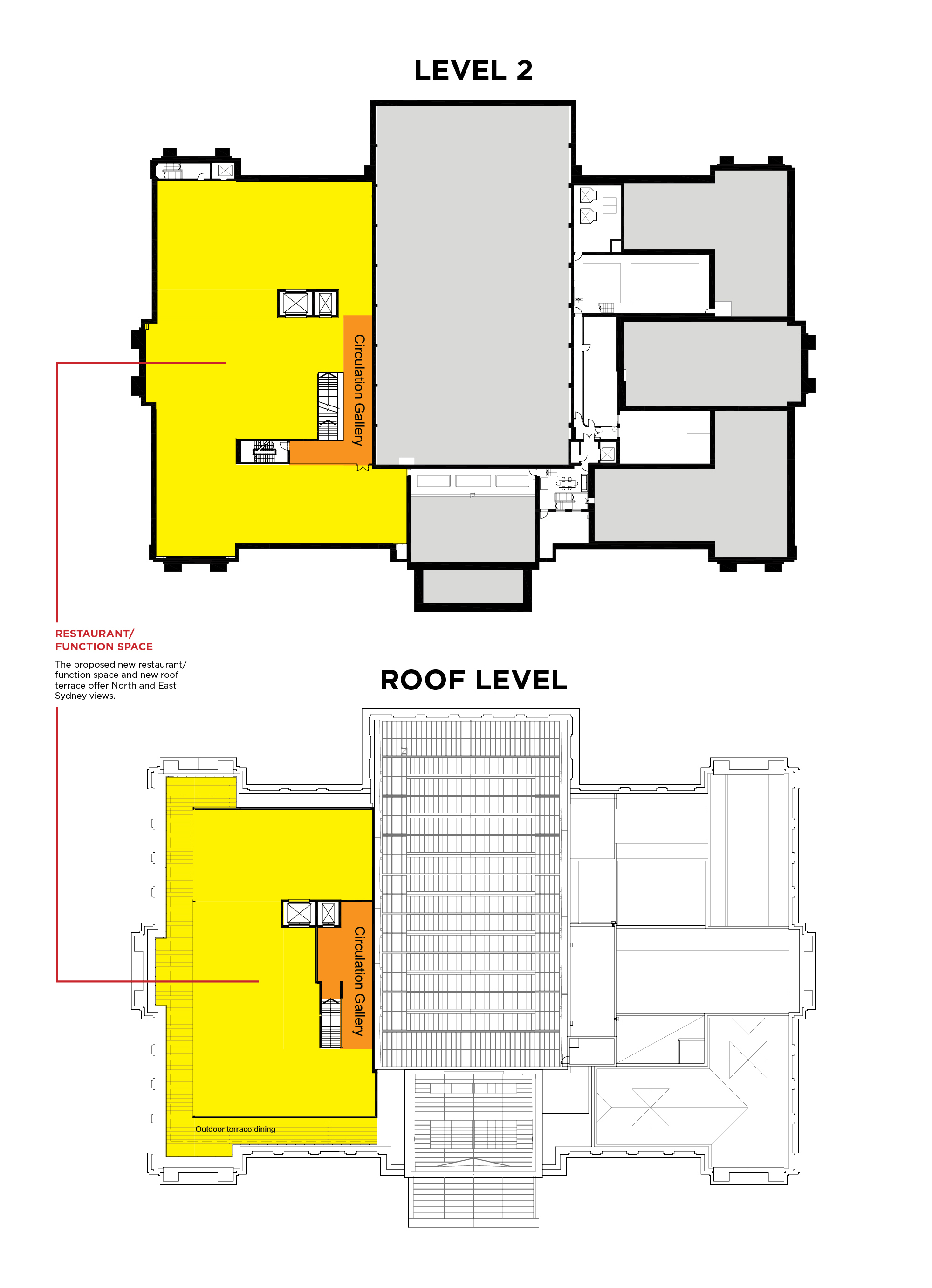 Mitchell Building Master Plan Floorplan Map Rooftop