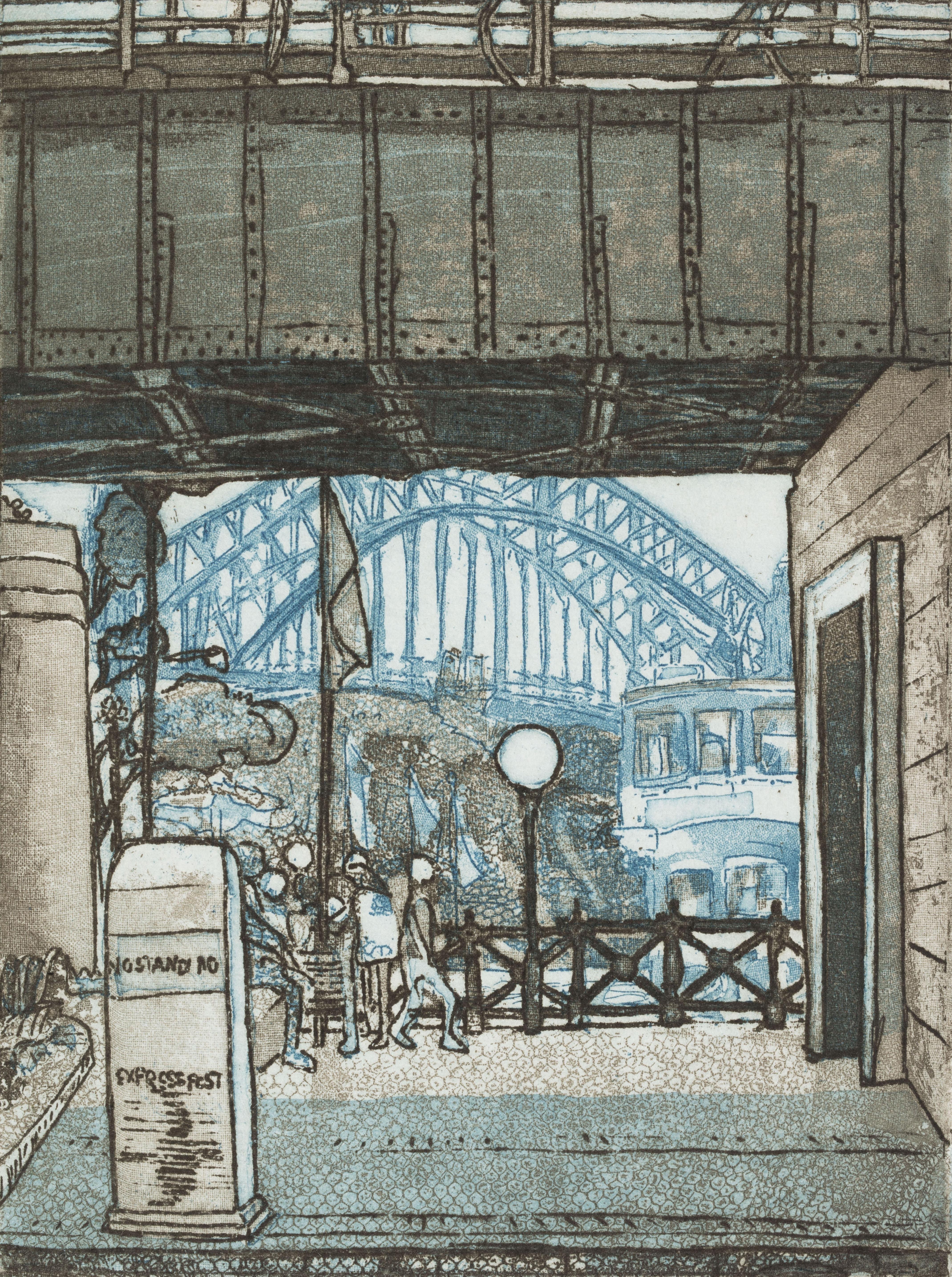 Sydney–Circular Quay: limited edition original prints etchings, by Barbara A Davidson