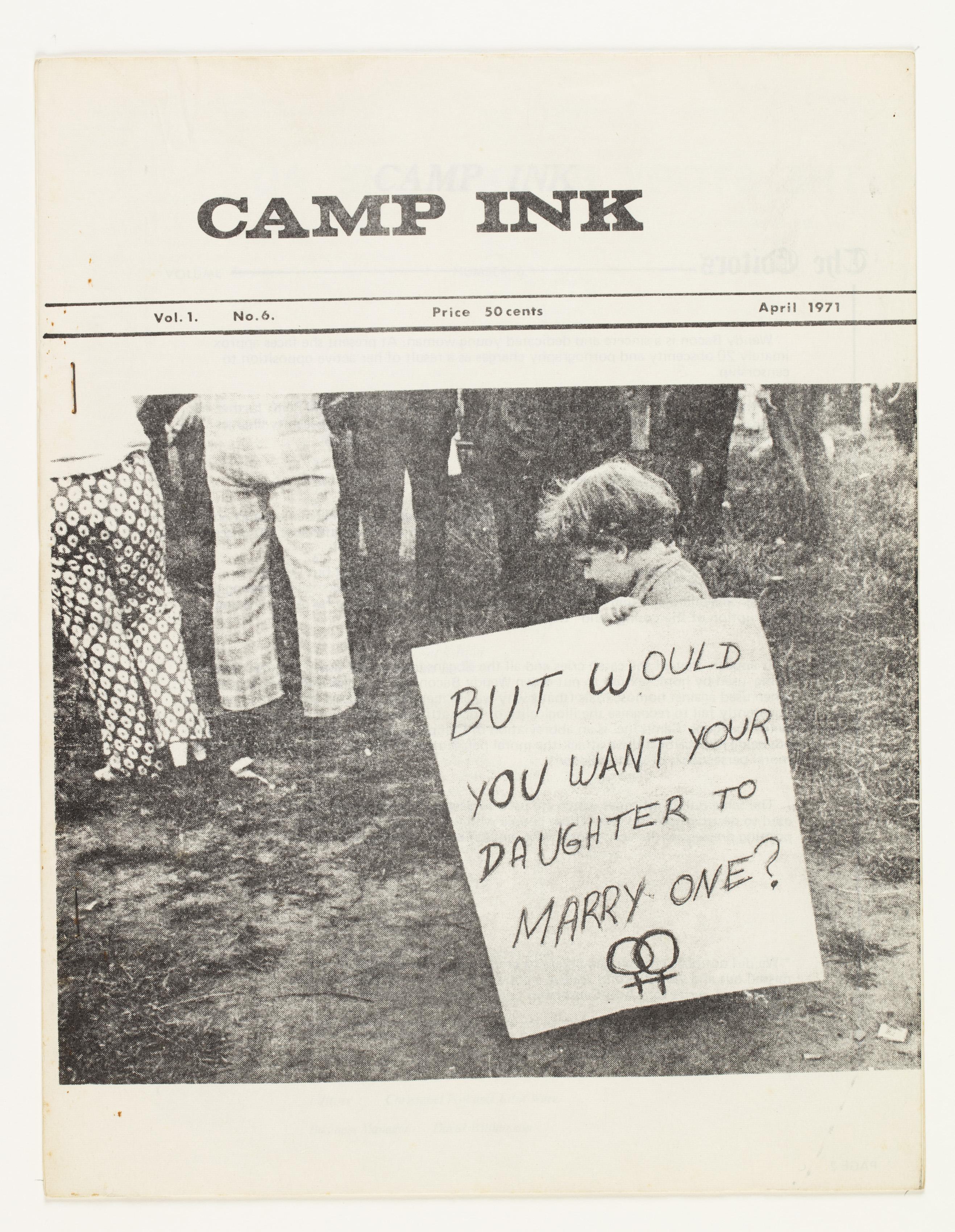Camp Ink. Vol. 1, No.6 (April 1971)