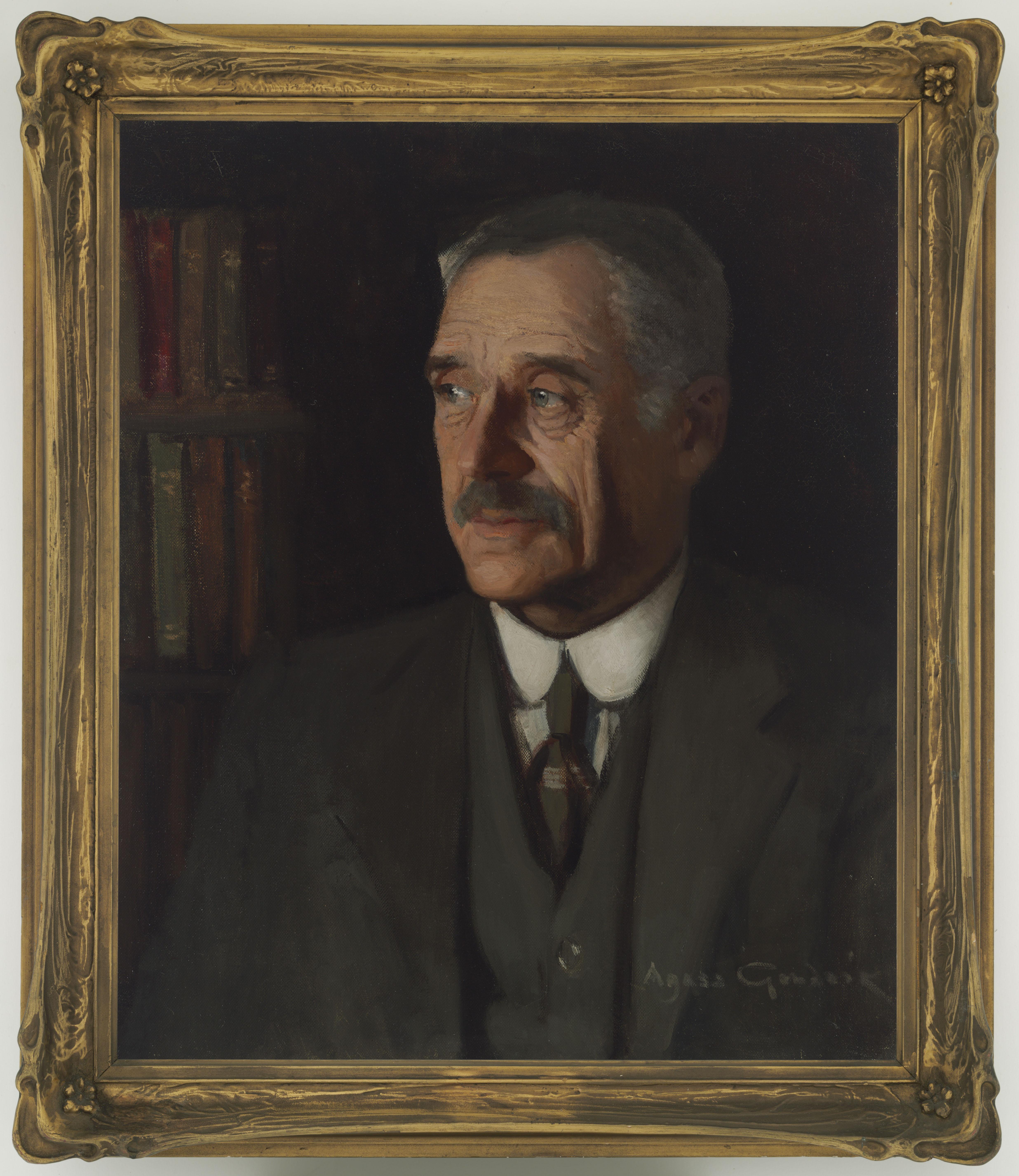 A. B. Paterson, Banjo : portrait in oils, 1927 / Agnes Noyes Goodsir