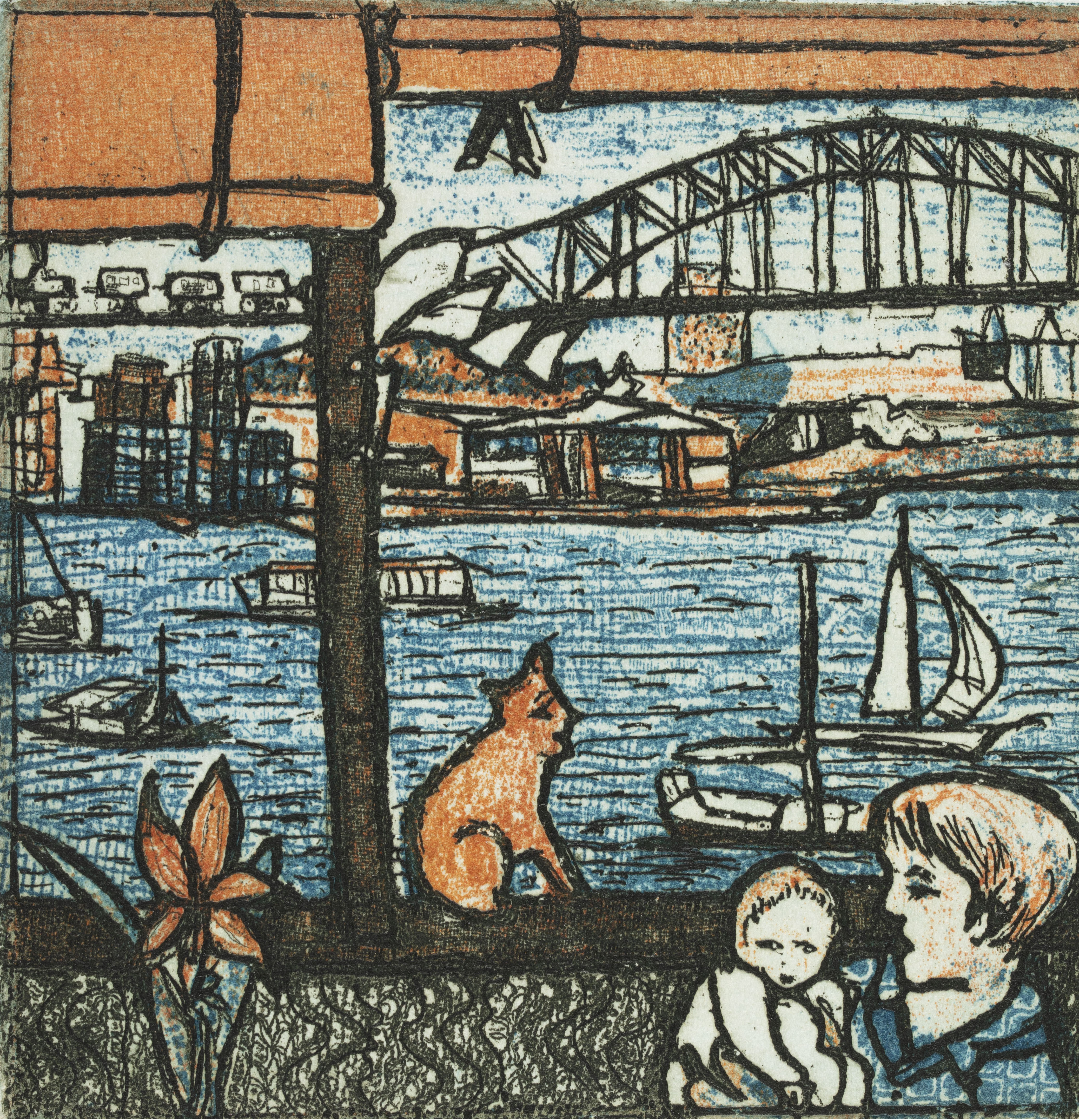Sydney after Chagall, 2012, by Barbara A Davidson, limited edition