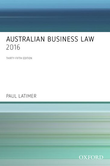 Cover for Australian business law. 35th ed