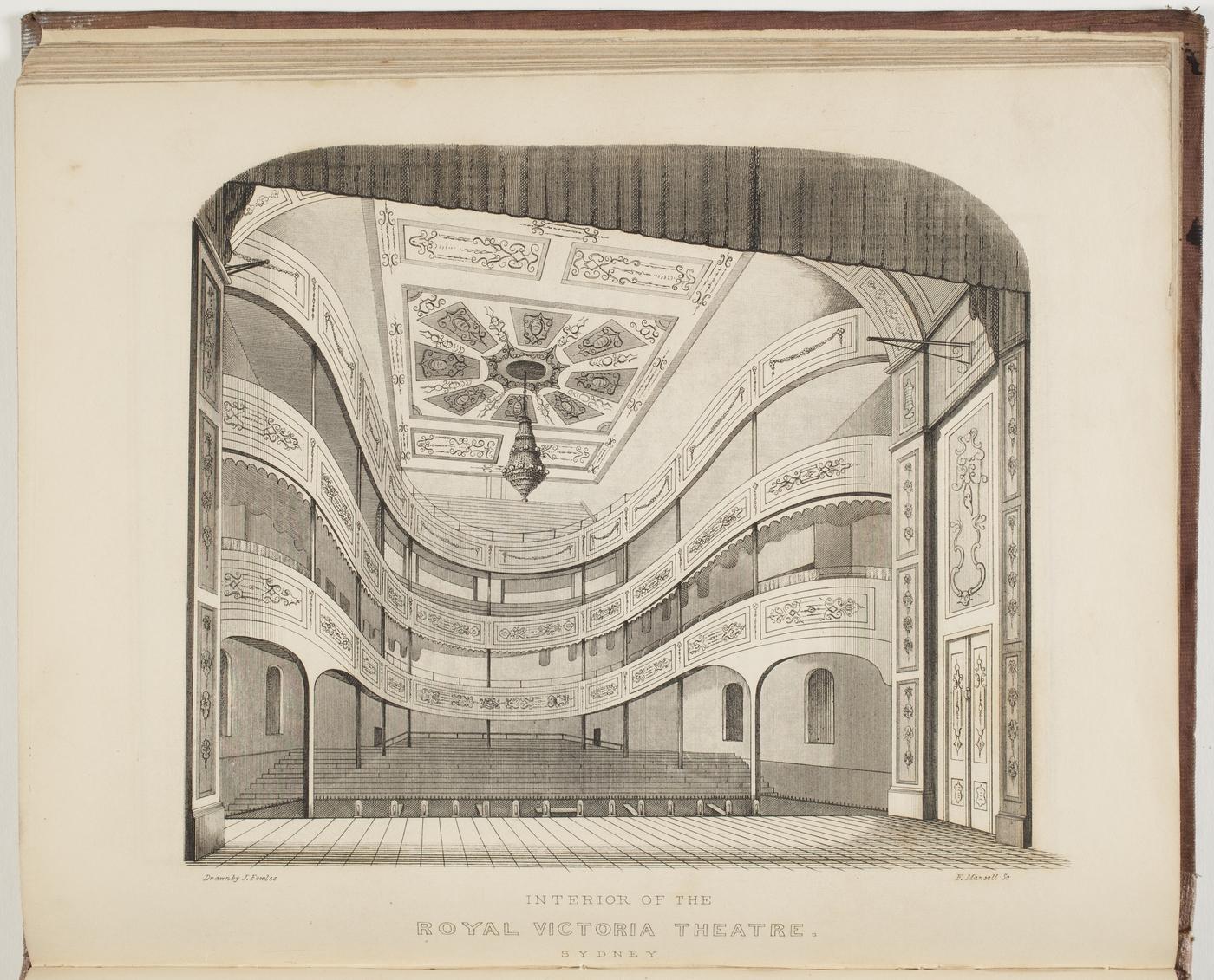royal victoria theatre sydney interior drawn by j fowles. Black Bedroom Furniture Sets. Home Design Ideas