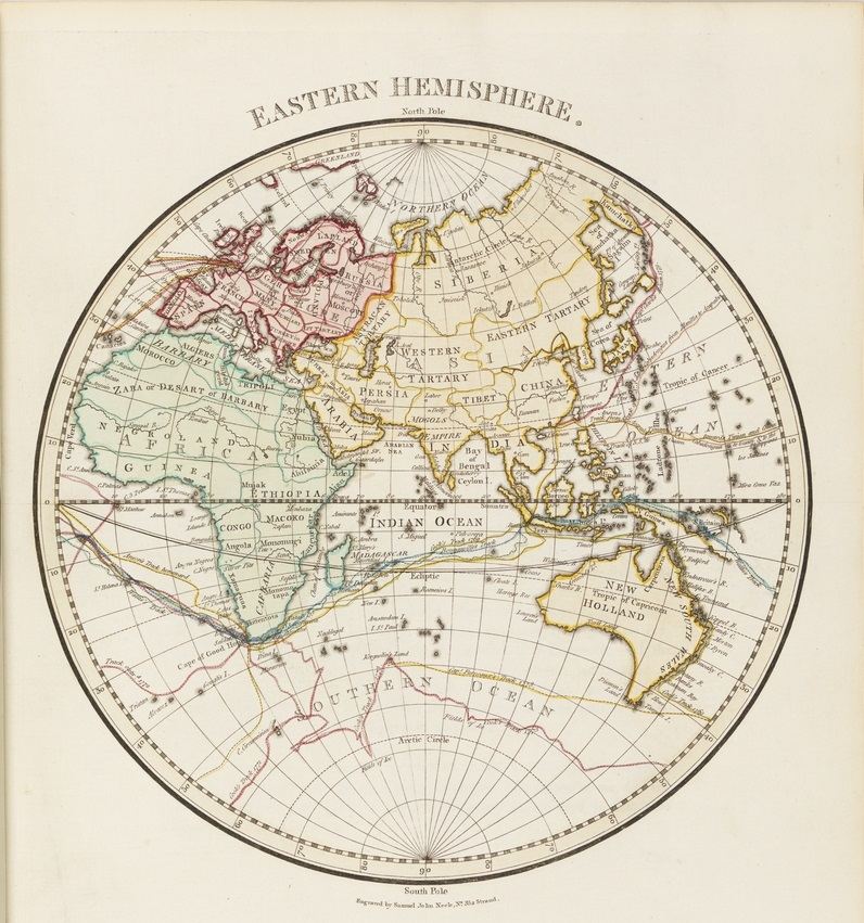 Map of Eastern Hemisphere of the world | State Library of NSW