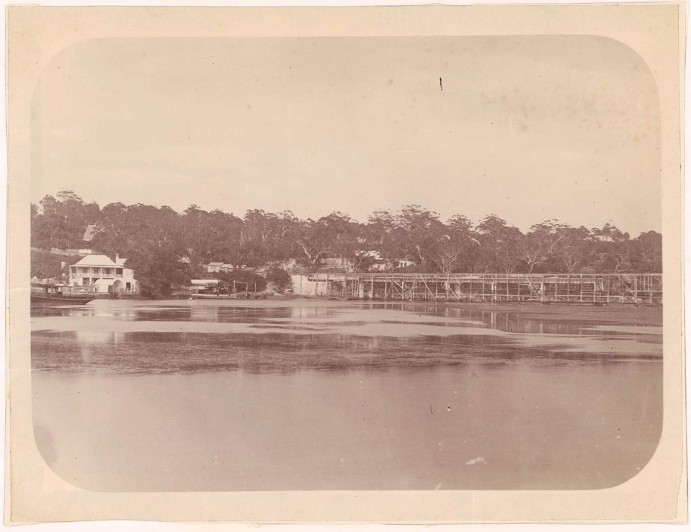 [View of Fig Tree Bridge under construction, Lane Cove River, New South Wales]