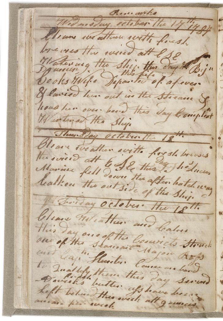 John Easty - Journal, 1786-1793. Journal entry.