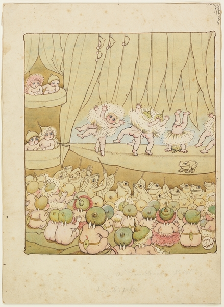 The Gumblossom Ballet /Volume 02/v: Illustrations for Snugglepot and Cuddlepie: their adventures wonderful / by May Gibbs