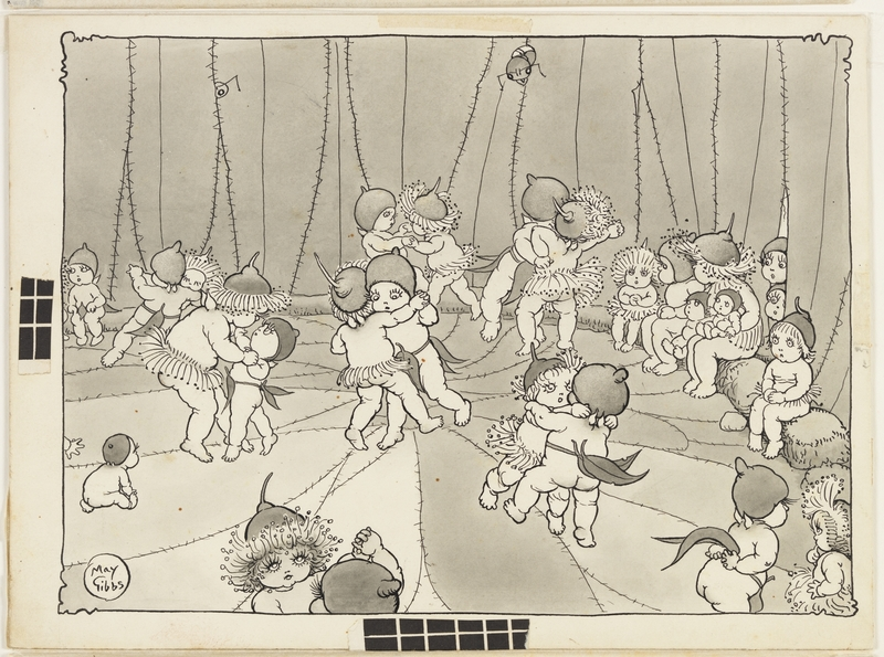 `The dance' / Volume 02/v: Illustrations for Snugglepot and Cuddlepie: their adventures wonderful / by May Gibbs