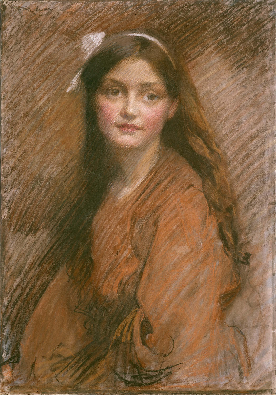 Bertha Lawson, ca.1913 / portrait by F. Rodway