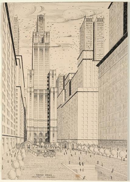 [Design for a future Martin Place, ca. 1928?] / E. Norsa