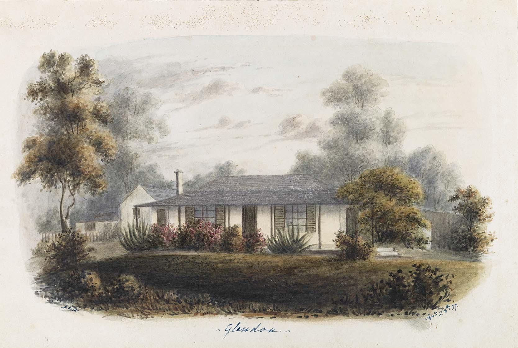 Glendon, 1841, Conrad Martens, DL PX 28/70