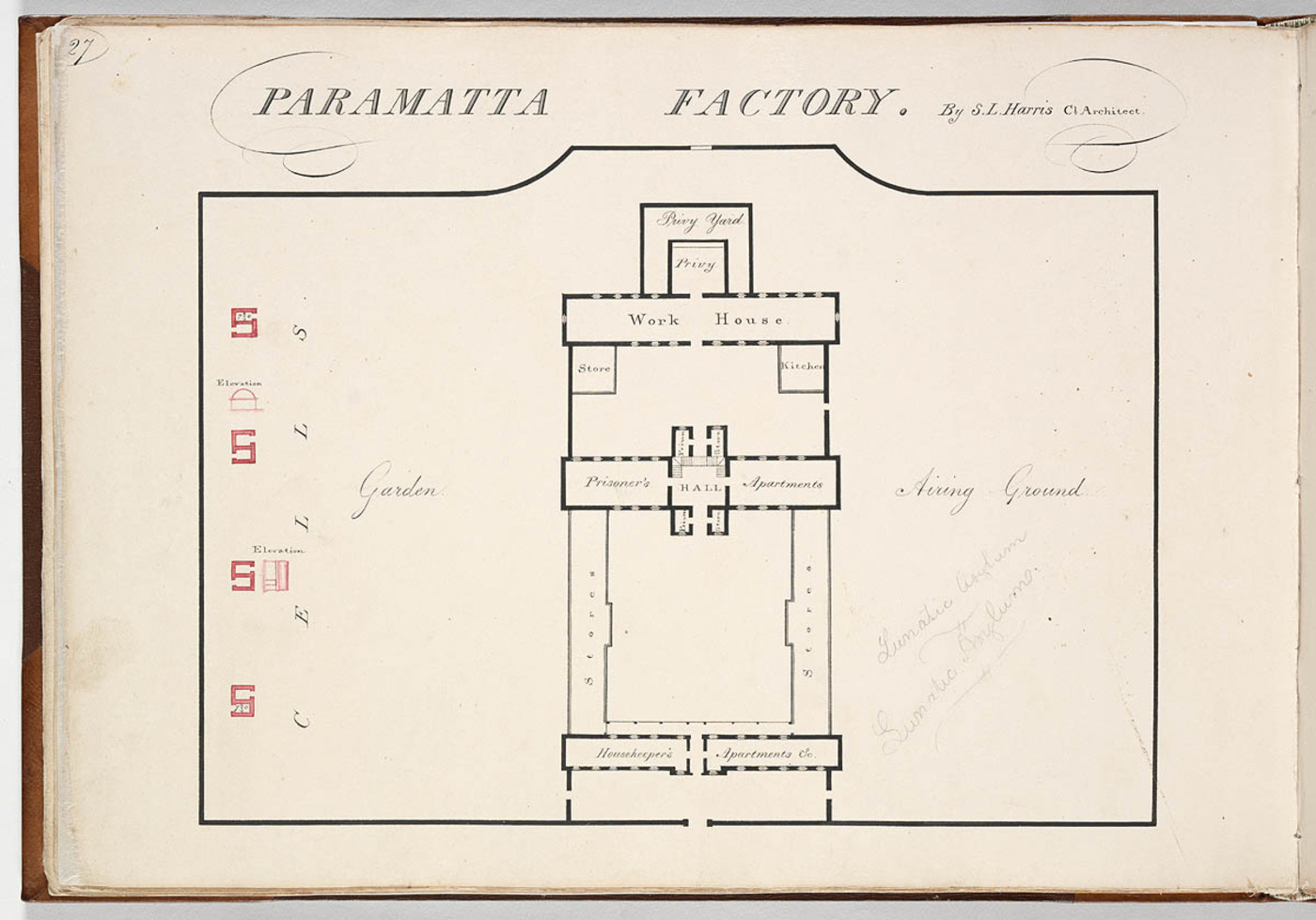 Across The Curators Desk A Report On Colonys Public Buildings Schematic Paramatta Factory