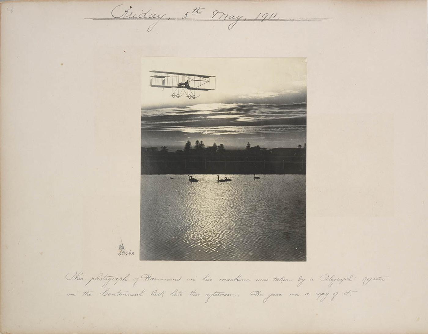 J.J. Hammond's first flight in Sydney, 1911