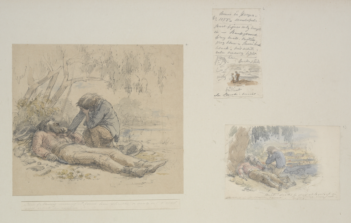 Depictions of Burke's Death