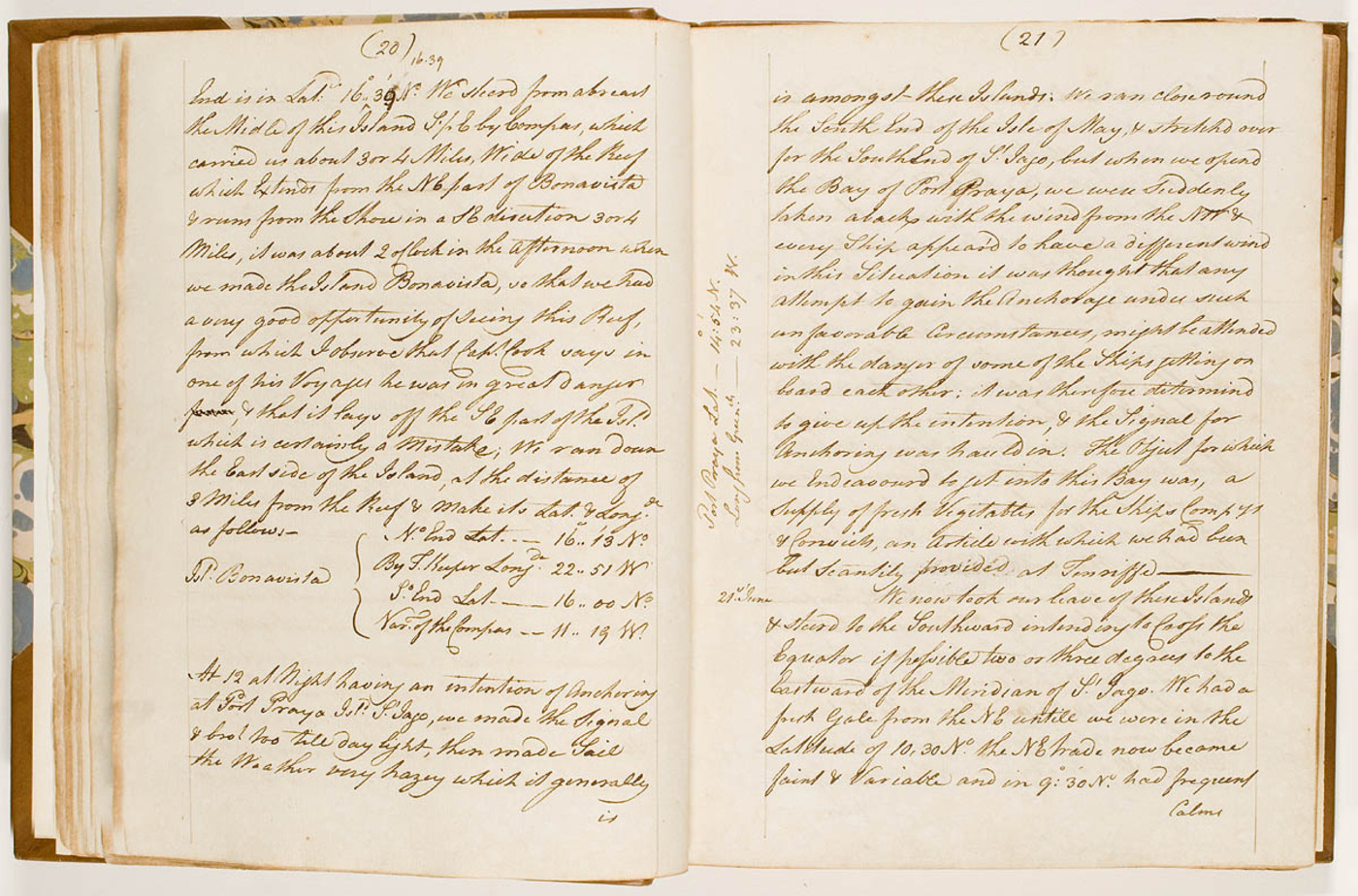 John Hunter - journal kept on board the Sirius during a voyage to New South Wales, May 1787 - March 1791. Journal entry.