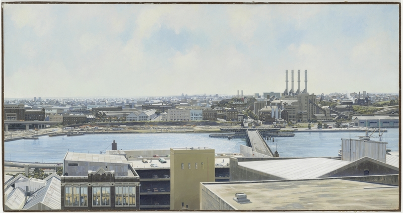 Looking west from the roof, 204 Clarence Street, 1986 / painted by Jeff Rigby