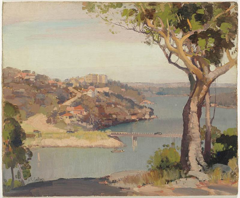 Fig Tree Bridge, Lane Cove / painted by Herbert Reginald Gallop