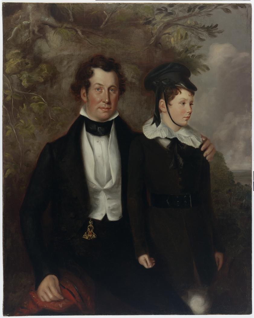 Thomas Chapman and Master Robert Cooper Tertius, 1840 / Maurice Felton