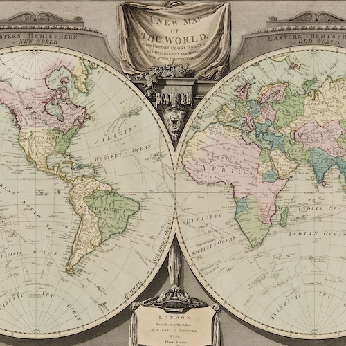 A new map of the world, with Captain Cook's tracks, his discoveries and those of the other circumnavigators [cartographic material] / W. Palmer sc[ulpsit].
