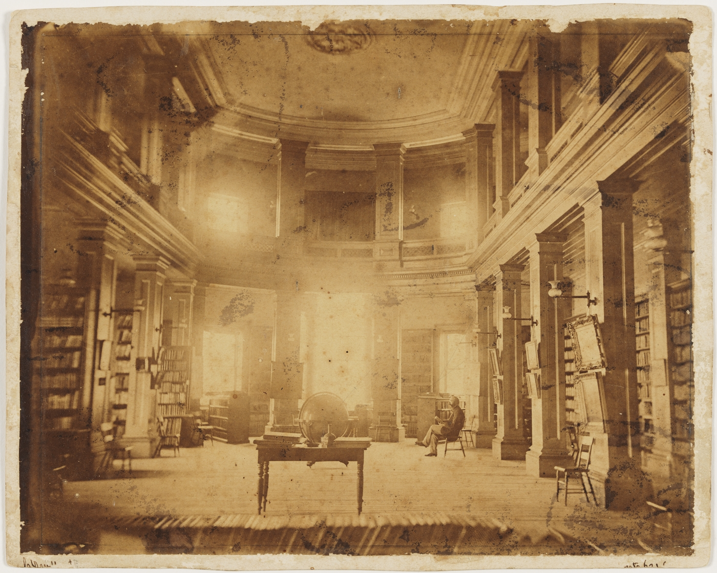 Photo of the State Library 1865-1869
