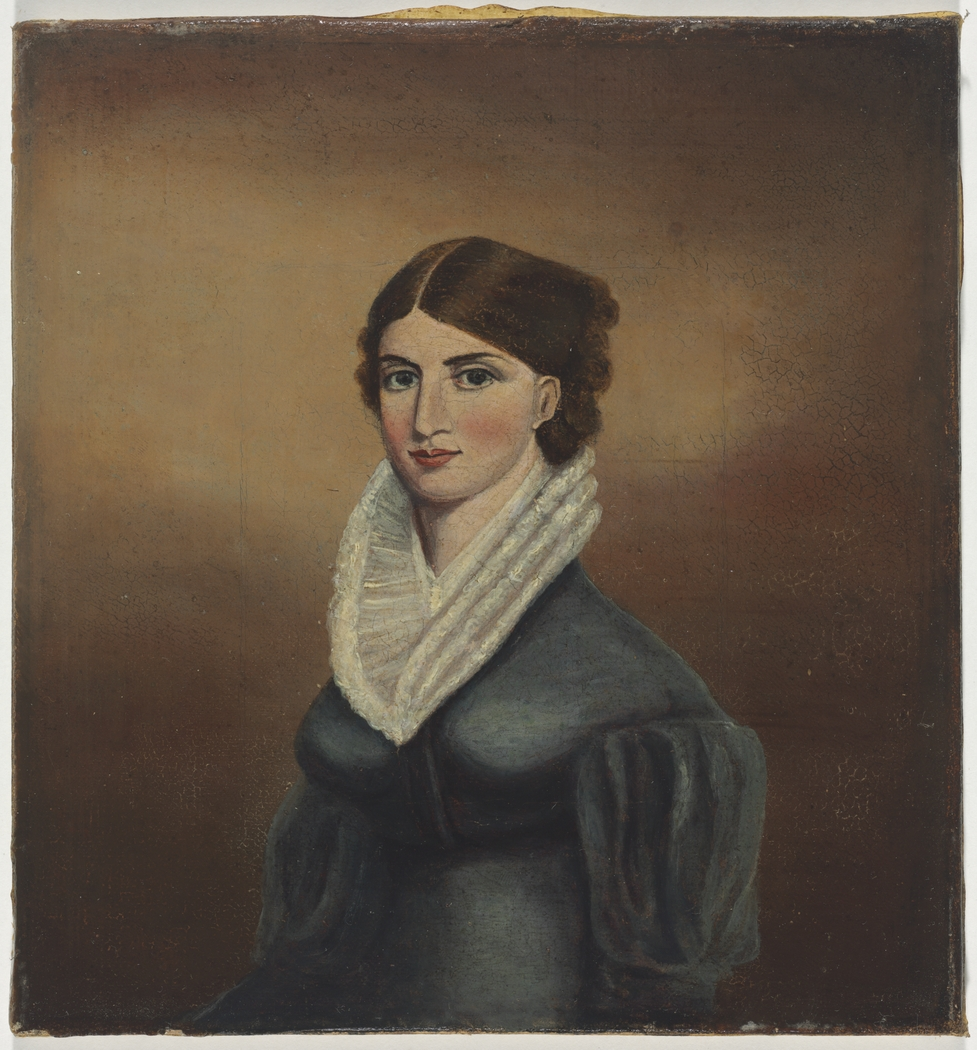 Frances (Mrs Edward Gostwyck) Cory, late 1820's / oil portrait by unknown artist