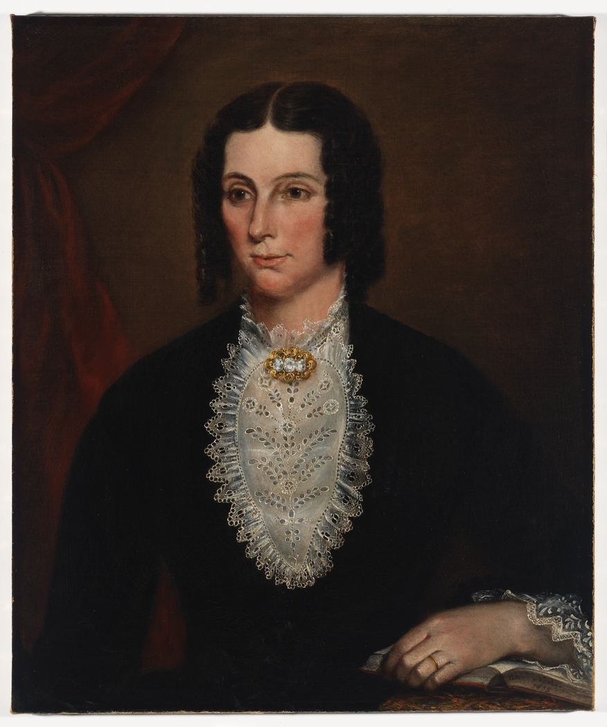 Item 04: Portrait of Sarah Scarvell, nee Redmond, 1855 / oil painting by Richard Noble