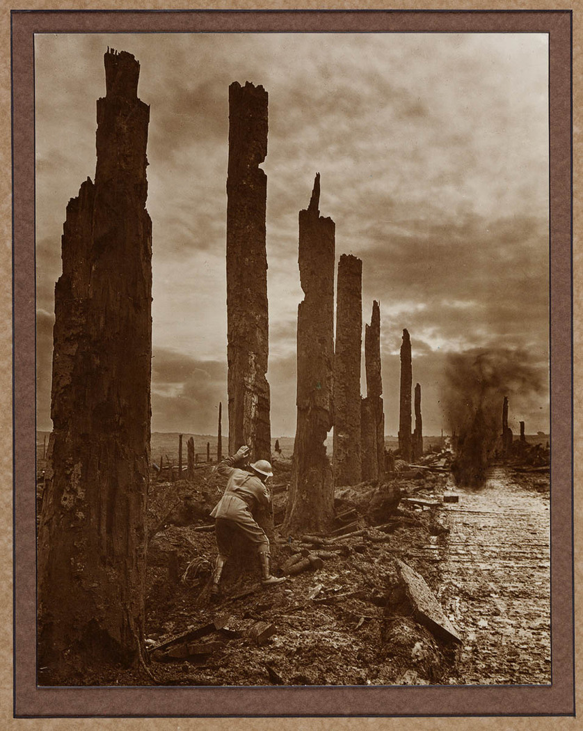 Battle scarred sentinels, 1917. Photographer: Frank Hurley.