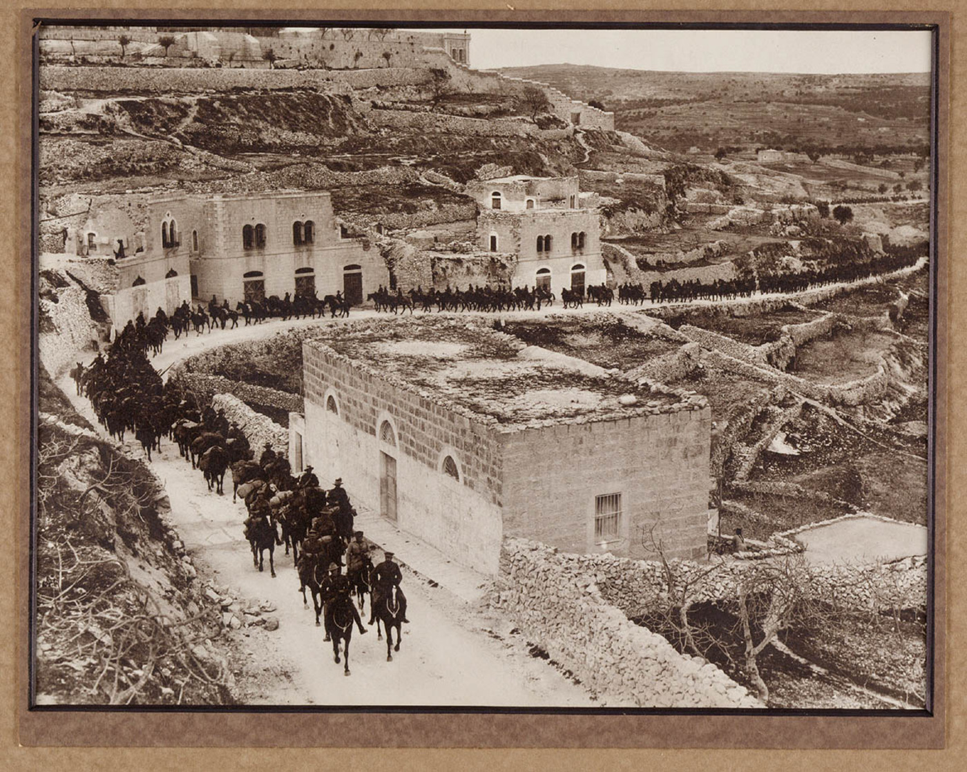The 1st Brigade Australin Light Horse passing through Bethlehem on their way to Jericho