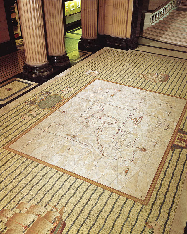 Tasman Map in the Mitchell Vestibule