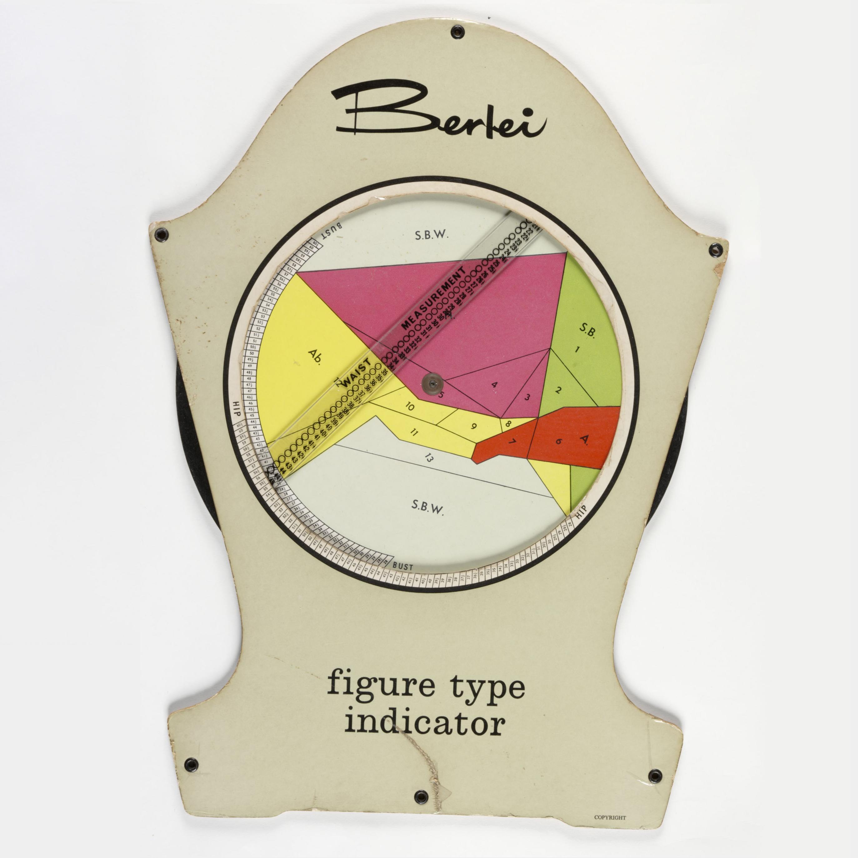 Berlei Figure Type Indicator, ca.1950