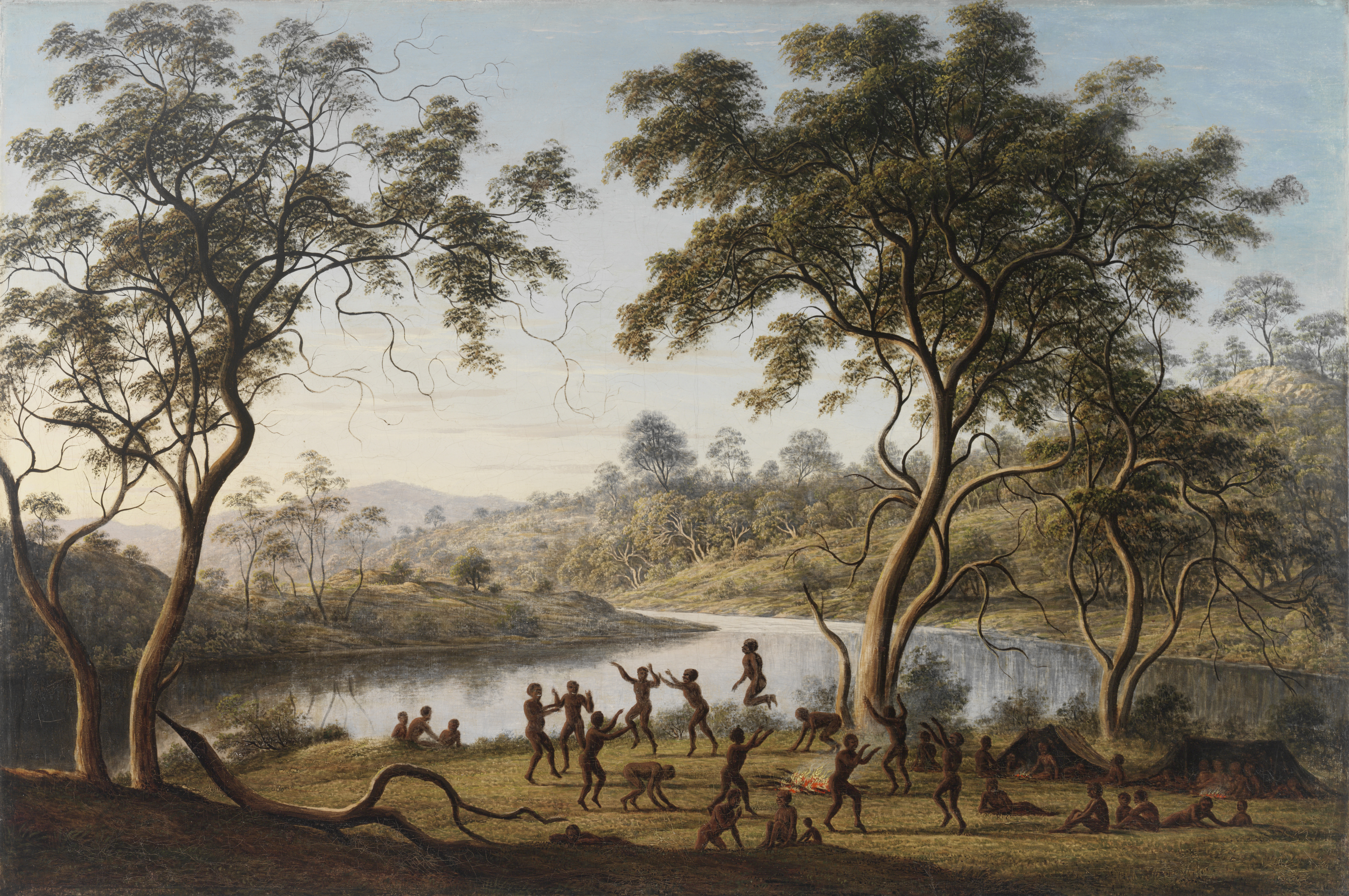 painting: Natives at a corrobory / John Glover / ML 154