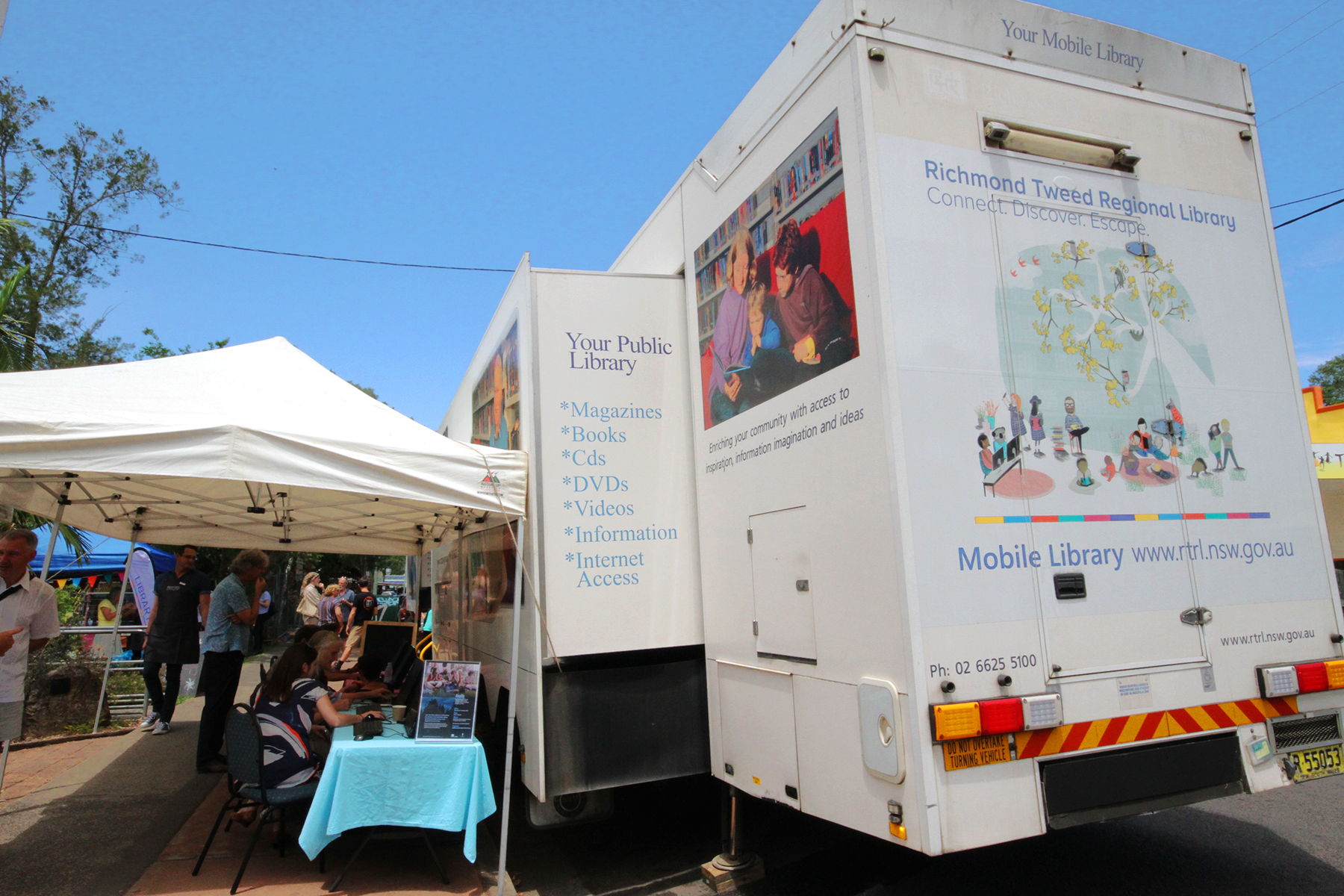 The Richmond Tweed Regional Library mobile library