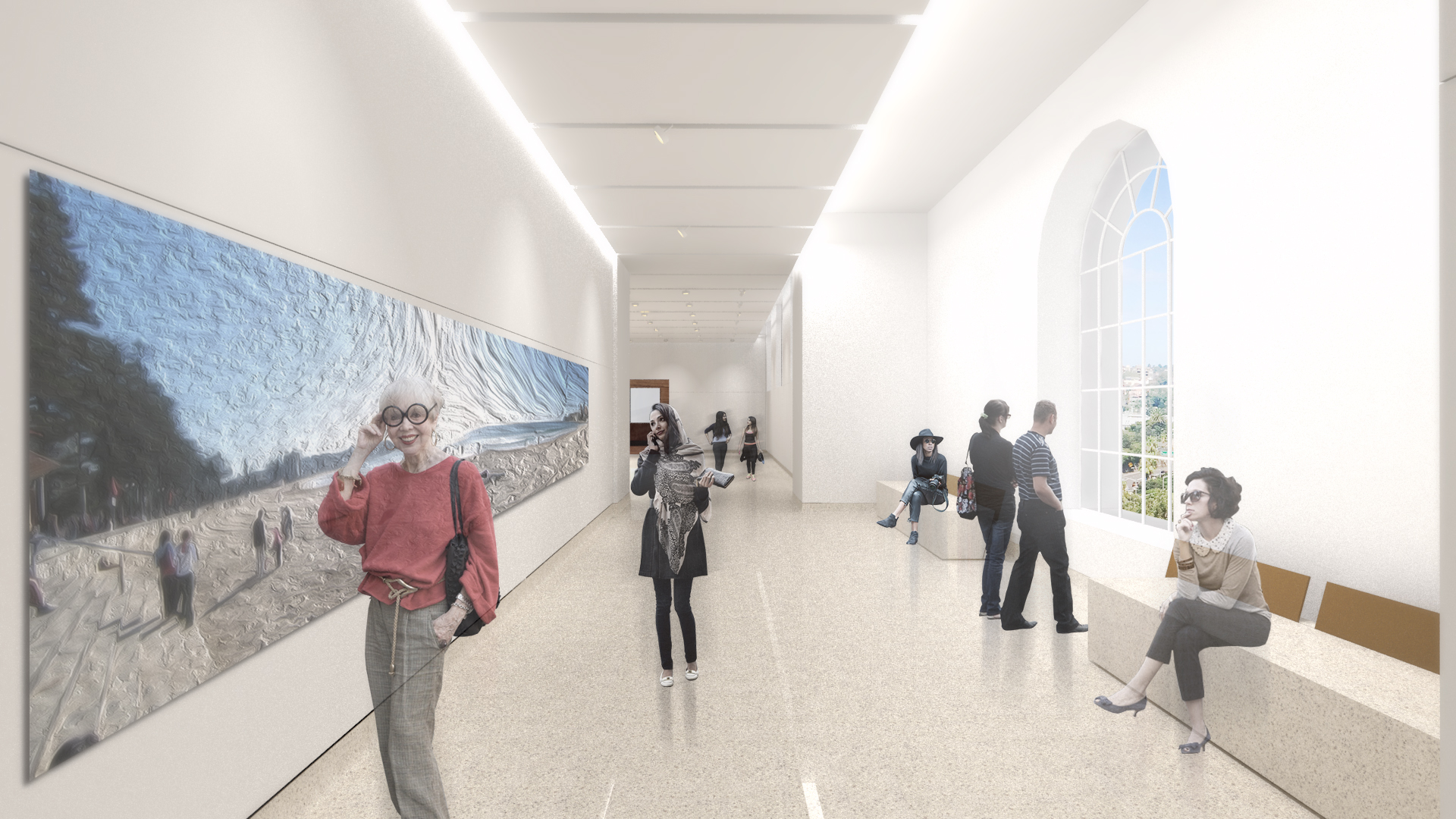 Artist's impression of new Level 1 galleries. Source: Hassell