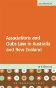 Cover for Associations and clubs law in Australia and New Zealand. 3rd ed
