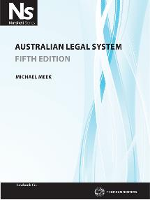 Cover for Australian legal system. 5th ed