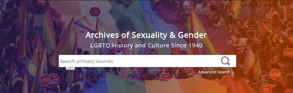Banner of the 'Archives of Sexuality & Gender' eresource