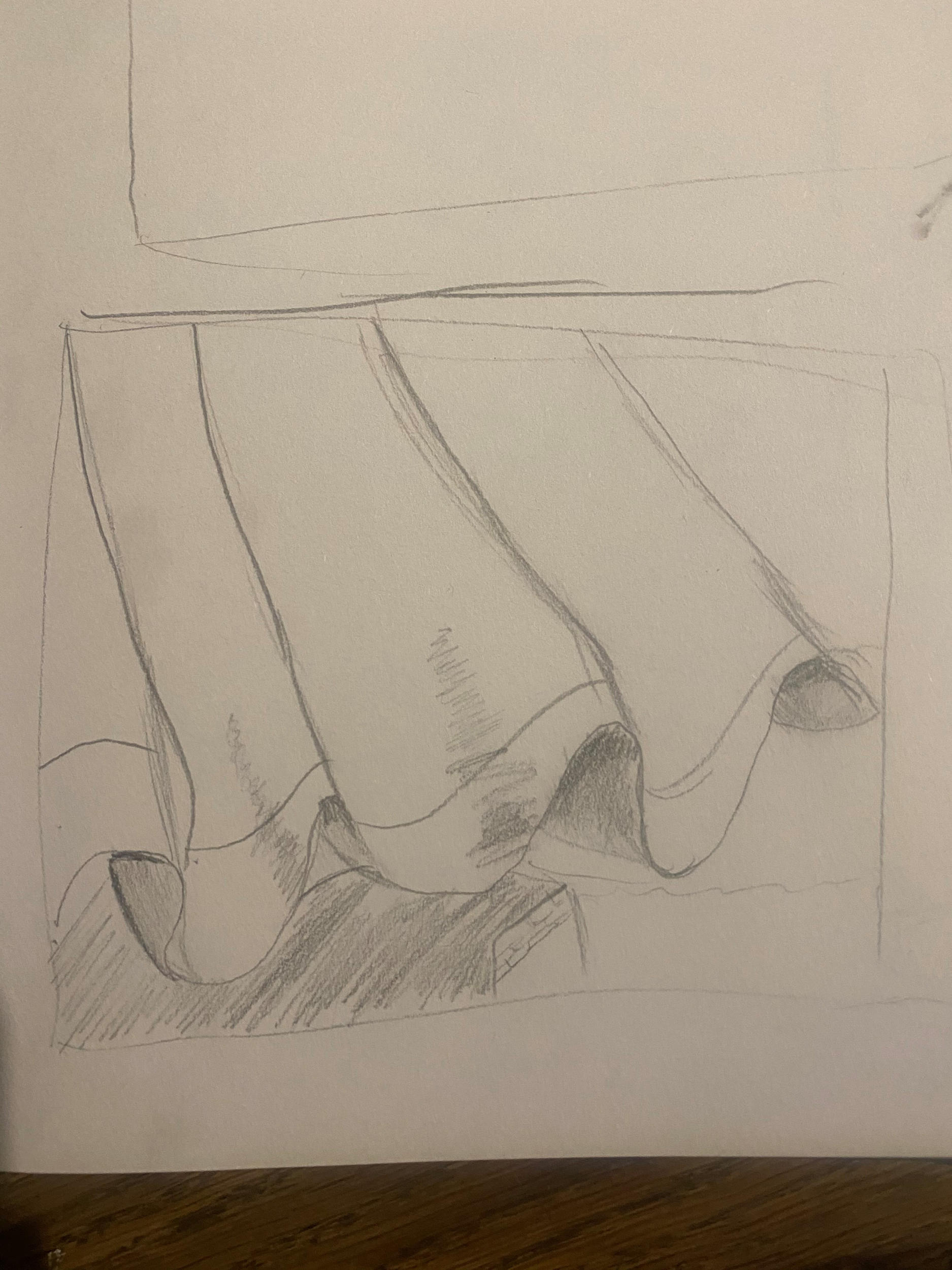 Artwork submitted by Art Club member - a sketch of fabric